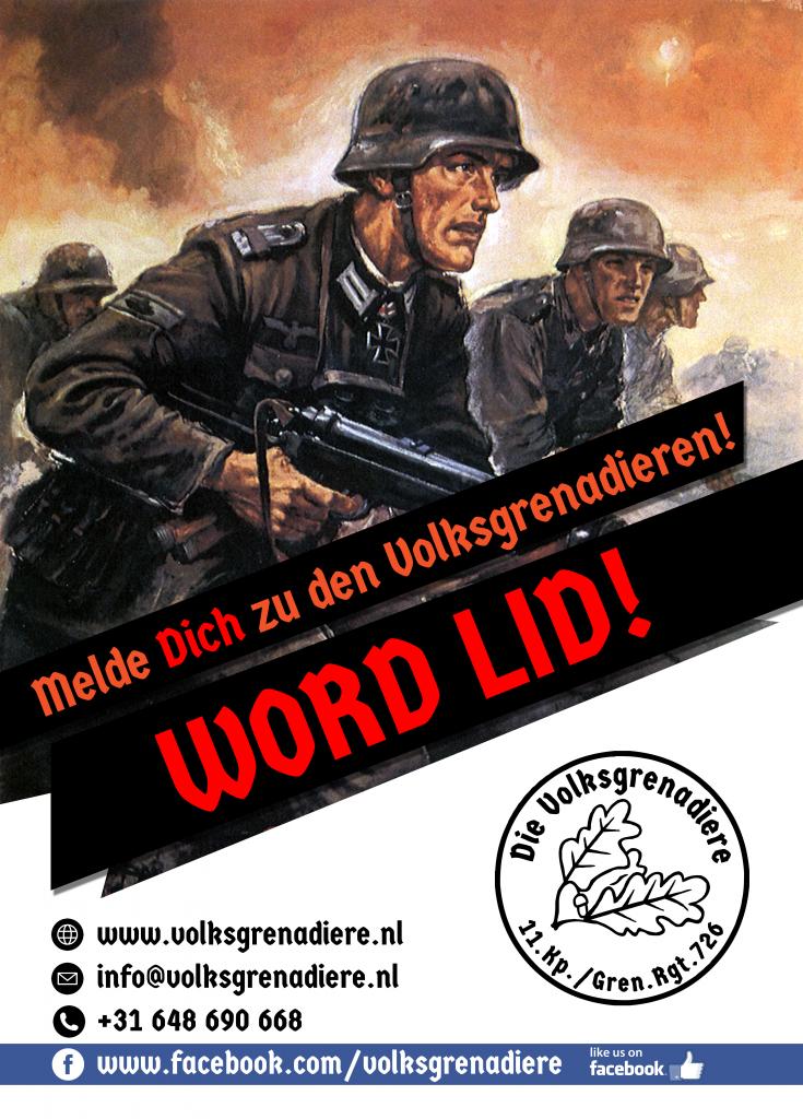 Die Volksgrenadiere recruitment poster