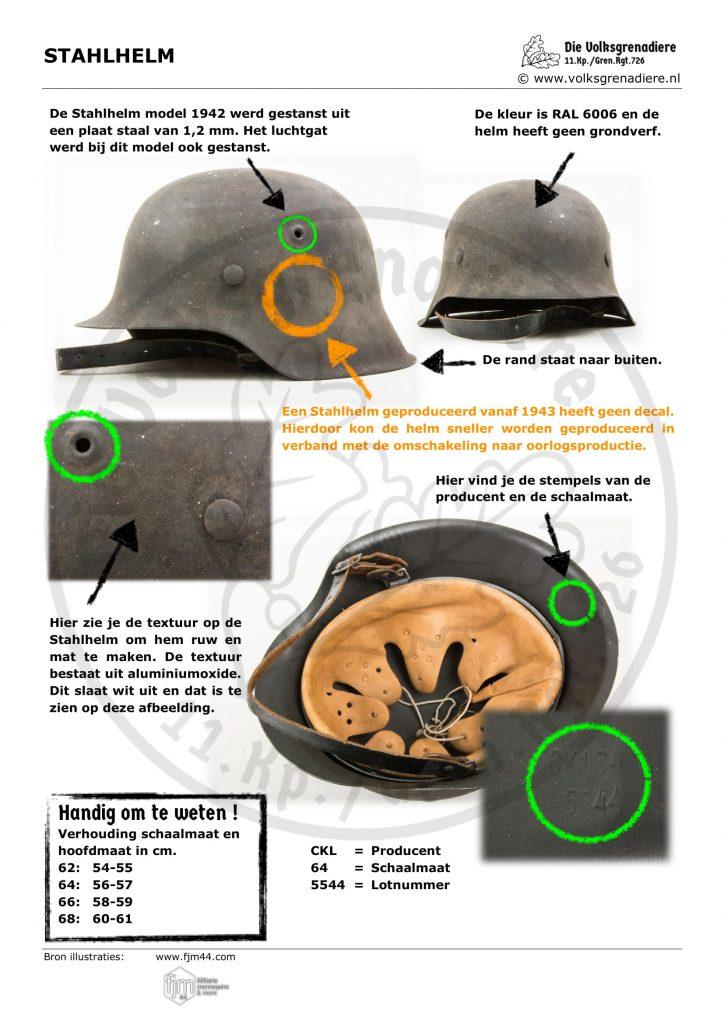 De Stahlhelm is het meest herkenbare uitrustingsstuk van de Duitse soldaat in de Tweede Wereldoorlog. Tijdens de oorlog zijn er 25 miljoen van geproduceerd.